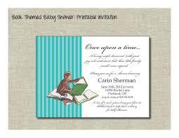 Book Themed Baby Shower Inivtation  DolanPedia Invitations IdeasLibrary Themed Baby Shower Invitations