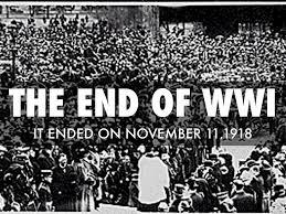 Image result for the end of World War I,