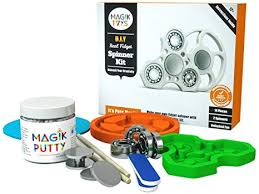 magiktoys diy fidget spinner kit creative adhd toys for kids focus on making something