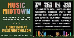 Piedmont Park Concert Seating Chart Live Nation Entertainment Music Midtown 2019 Lineup Brings