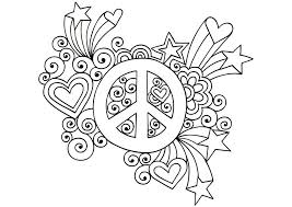 Small Picture peace sign coloring pictures simple and attractive free printable