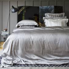 gingerlily silk duvet cover silver gray super king uk eu size amara