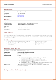Personal Resume Personal Profile Sample Template Cover Letter For Example Resume 65