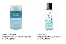 l oréal and nars makeup remover