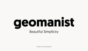 Logo Font Geomanist Font Family Befonts Com