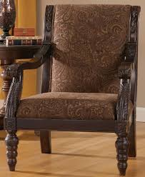 Wide Chairs Living Room Bradington Truffle Showood Accent Chair By Ashley Furniture