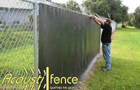 wire fence covering. Fine Wire Acoustifence Installed On Chainlink Fence To Wire Fence Covering N