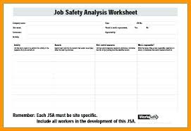 Job Hazard Analysis Worksheet Job Worksheet Template Job Analysis Form Template Unique Safety