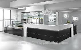 commercial modern restaurant glass display reception desk