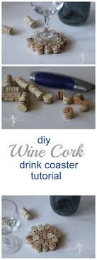 A quick and cute DIY Wine Cork Drink Coaster Tutorial - Cut the corks in  thirds