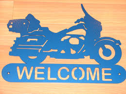 Harley Davidson Signs Decor Harley Davidson Motorcycle WELCOME SIGN Home Decor Wall Biker 80