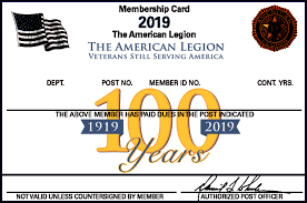 American Legion Paid Up For Life Rate Chart American Legion Membership Dues American Legion Family