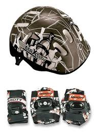 Детский набор защиты и <b>шлем MaxCity</b> Baby City (черный) для ...