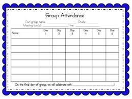 Group Counseling Attendance Tracker Charts 5 8 Week Groups