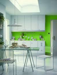 Kitchen:Plush Bright Kitchen With Yellow Walls And White Cabinets Also  Minimalist Stools Bright Kitchen