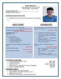 Resume Example Free Resume Format Sample Download