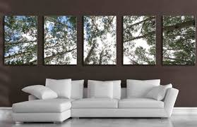 Living Room Artwork Decor 5 Panel Wall Art Etsy