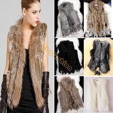 3 types for choose real rabbit fur gilet with rac fur collar coat faux fur leather vest faux fur coat jacket beige b6 gilet clothing b6 battery b6