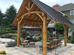 amish metal roofing pavilion with roof15