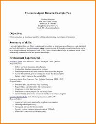 Insurance Agent Resume Sample Michael Resume