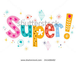 Another Word For Decorative Design Adorable Word Super Decorative Lettering Type Design Stock Vector 32