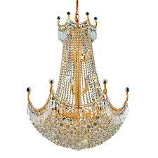 elegant lighting corona 24 light gold crystal chandelier