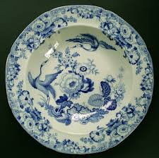 Blue China Pattern Best FINE STAFFORDSHIRE HICKS AND MEIGH STONE CHINA EXOTIC BIRDS PATTERN