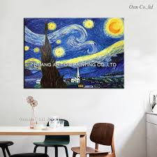 large painting impressionist cheap wall art handmade van gogh reproductions of famous paintings starry sky on on famous paintings wall art with large painting impressionist cheap wall art handmade van gogh
