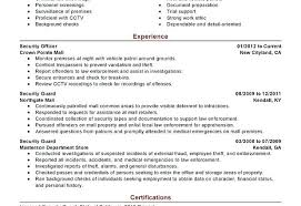 Club Security Officer Sample Resume Interesting Security Guard Resume Objective Patrol Report Example