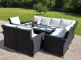 stylish outdoor furniture corner seating panama rattan garden corner sofa set gallery image iransafebox