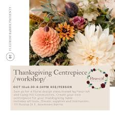 Teaching Floral Design Thanksgiving Centrepiece Workshop
