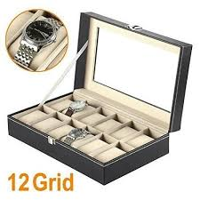 Standing Watch Display Case Watch Boxes Amazoncouk 44