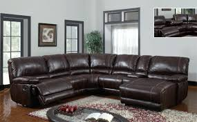 leather sectional nailhead trim leather sectional sofas with recliners and chaise sofa image inspirations trim brown