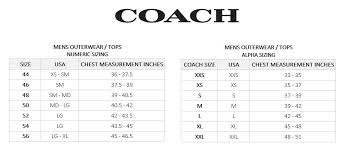 Buy Coach Size Chart Cheap Up To 39 Discounts
