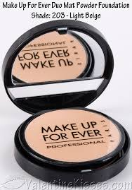 make up for ever duo mat powder foundation before after