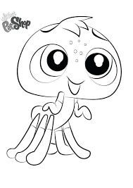 Little Pet Shop Coloring Cute Littlest Pet Shop Coloring Pages