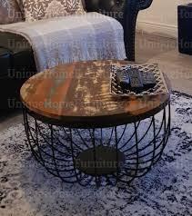 industrial coffee table vintage