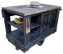 Brilliant Modern Kitchen Island Cart Rustic With Walnut Stained Throughout Ideas