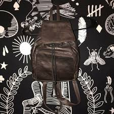 details about vintage 90 s mini backpack purse brown leather