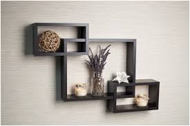 ... Full Image For Wooden Cube Wall Shelves Set Of 3 Danya B Intersecting  Espresso Color Wall ...