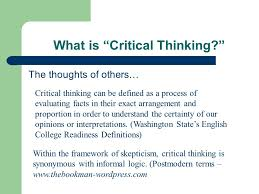 Critical and Creative Thinking   Critical Thinking SlidePlayer     Bloom s Taxonomy Verbs For Critical Thinking