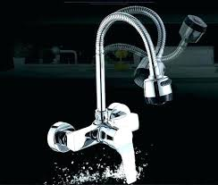 wall mounted faucet with sprayer wall mount kitchen faucet single handle wall mount kitchen faucet with
