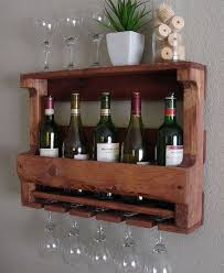 Image Unusual Rustic Wall Mount Wine Rack With Glass Holder And Shelf On Etsy 6500 Pinterest Rustic Wall Mount Wine Rack With Glass Holder And Shelf On Etsy