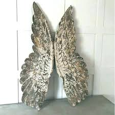 angel wings wall art large natural wooden cowshed interiors wing carved sculpture plaque