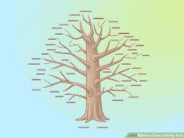 how to draw family tree how to draw a family tree 10 steps with pictures wikihow