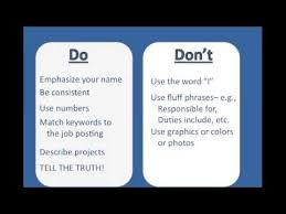 Writing A Resume - Do's and Don'ts