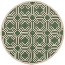 safavieh courtyard dark green beige 5 ft x 5 ft indoor outdoor