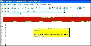 Client Contact List Template Phone Template Source On Epigrams