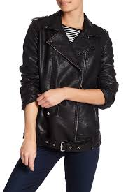 image of bnci by blanc noir faux leather moto jacket