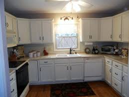 Best Antique White Painted Kitchen Cabinet With Wall Light Fixtures For  Small Kitchen